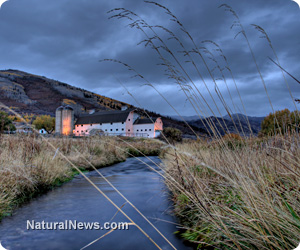 Barn-Farm-Stream-River-Clouds-Nature-Park-City-Autumn-Outdoors-Utah-