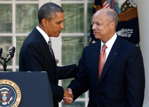Image: Barack Obama, Jeh Johnson