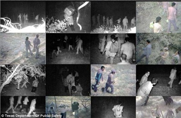 Cameras placed along Texas' 1,200-mile border with Mexico have captured the stream of illegal immigrants sneaking into the country on a daily basis