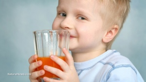 Small-Boy-Child-Glass-Drink-Orange-Juice