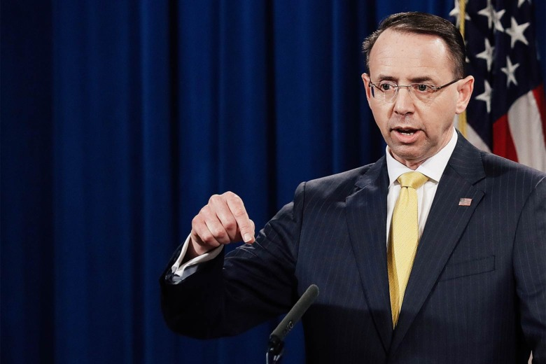 Deputy AG Rosenstein: 'No Allegation in This Indictment ...